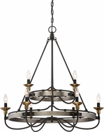 Quoizel CTH5009AN Castle Hill Antique Nickel Hanging Chandelier