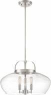 Quoizel CTP2818BN City Park Contemporary Brushed Nickel Hanging Light