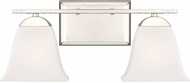 Quoizel CTW8602PK Crestwood Contemporary Polished Nickel 2-Light Bathroom Light