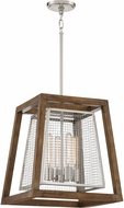 Quoizel CTY5204BN Courtyard Contemporary Brushed Nickel Pendant Hanging Light