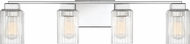 Quoizel DAN8632PK Danson Modern Polished Nickel 4-Light Bath Light Fixture