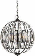 Quoizel DAW2820EK Dawn Contemporary Earth Black Hanging Light Fixture