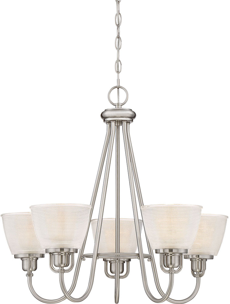Quoizel Dbn5005bn Dublin Brushed Nickel Lighting Chandelier