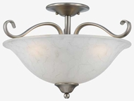 Quoizel DH1718AN Duchess Small Semi-Flush Ceiling Light in Antique Nickel