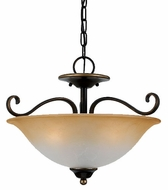 Quoizel DH1718PN Duchess Semi-Flush Ceiling Light in Palladian Bronze - 17 inches wide