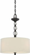 Quoizel DW2817D Downtown Dusk Bronze Drum Hanging Lamp