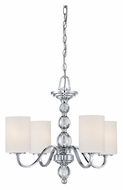 Quoizel DW5004C Downtown 19 Inch Diameter Polished Chrome Hanging Chandelier