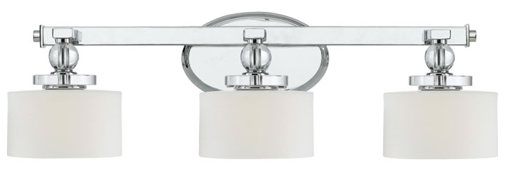 Quoizel Dw8603c Downtown 3 Light 24 Inch Long Chrome Vanity Lighting Fixture