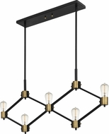 Quoizel DWG542MBK Downing Contemporary Matte Black Kitchen Island Lighting