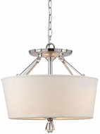 Quoizel DX1718C Deluxe Semi-Flush in Polished Chrome