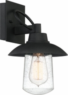 Quoizel EBY8407MB East Bay Contemporary Mottled Black Outdoor 7  Wall Sconce Light