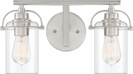 Quoizel EMR8602BN Emerson Contemporary Brushed Nickel 2-Light Vanity Light