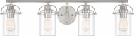 Quoizel EMR8604BN Emerson Contemporary Brushed Nickel 4-Light Bath Lighting Fixture