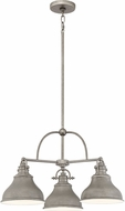 Quoizel ER5103DI Emery Modern Distressed Nickel Mini Chandelier Lamp