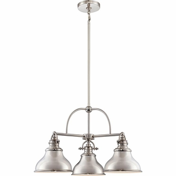 Quoizel ER5103IS Emery Retro Imperial Silver Finish 15 Tall Mini Chandelier Lighting