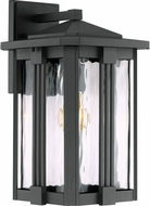 Quoizel EVG8409EK Everglade Contemporary Earth Black Outdoor 8.5  Wall Sconce Lighting