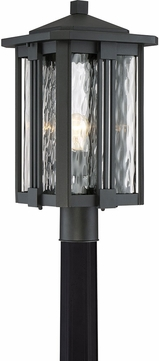 Quoizel EVG9011EK Everglade Contemporary Earth Black Outdoor Post Light Fixture