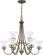 Quoizel FCH5030SU Fairchild Traditional Statuary Bronze Chandelier Lighting
