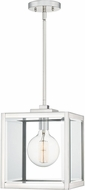 Quoizel FER1510PK Ferguson Contemporary Polished Nickel Mini Hanging Lamp