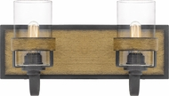 Quoizel FIN8616AWN Finch Aged Walnut 2-Light Vanity Lighting Fixture