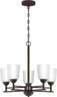Quoizel FLY5022OZ Foley Contemporary Old Bronze Mini Ceiling Chandelier