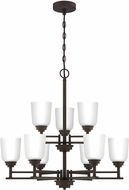 Quoizel FLY5028OZ Foley Contemporary Old Bronze Hanging Chandelier