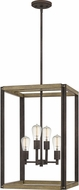 Quoizel FNN5216RK Finn Rustic Black Foyer Lighting
