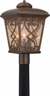 Quoizel FQ9011AW Fort Quinn Traditional Antique Brown Outdoor Lamp Post Light