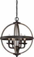 Quoizel FSN5204RK Fusion Contemporary Rustic Black 16.75  Hanging Light Fixture