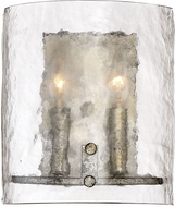 Quoizel FTS8802MM Fortress Contemporary Mottled Silver Lighting Wall Sconce