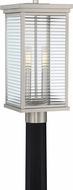 Quoizel GAR9008SS Gardner Contemporary Stainless Steel Exterior Post Light