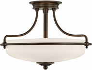 Quoizel GF1717PN Griffin Palladian Bronze 17  Flush Mount Light Fixture