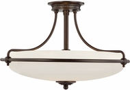 Quoizel GF1721PN Griffin Palladian Bronze 21  Flush Mount Lighting Fixture