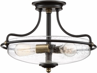 Quoizel GFC1717PN Griffin Contemporary Palladian Bronze Ceiling Light Fixture
