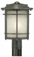 Quoizel GLN9010IB Galen Outdoor Bronze Craftsman Lantern 15 Inch Tall Post Lighting Fixture