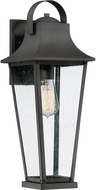Quoizel GLV8407MB Galveston Mottled Black Outdoor 7.25  Wall Light Sconce