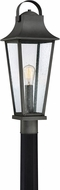 Quoizel GLV9008MB Galveston Mottled Black Outdoor Lamp Post Light Fixture