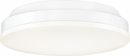 Quoizel GLW1610W Glow Contemporary White Lustre LED 9.5  Flush Mount Lighting