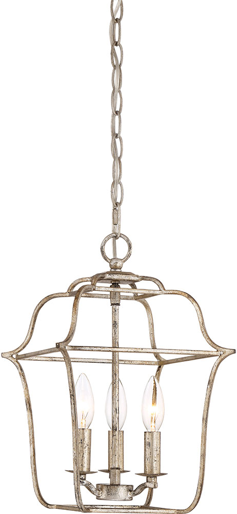 Quoizel Gly5203cs Gallery Century Silver Leaf Foyer Lighting Fixture Loading Zoom