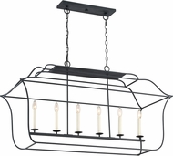 Quoizel GLY648BA Gallery Contemporary Royal Ebony Kitchen Island Lighting