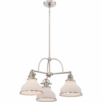 Quoizel GRT5103BN Grant Brushed Nickel Finish 15  Tall Mini Chandelier Lamp
