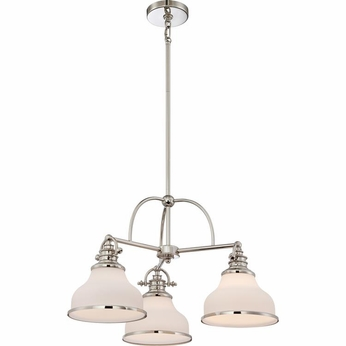 Quoizel GRT5103IS Grant Imperial Silver Finish 24 Wide Mini Chandelier Light