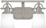 Quoizel GRT8602AN Grant Antique Nickel 2-Light Bath Wall Sconce
