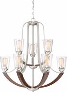 Quoizel HE5009BN Holbeck Contemporary Brushed Nickel Chandelier Light