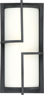 Quoizel HGR8407MB Huger Contemporary Mottled Black LED Exterior Lighting Sconce