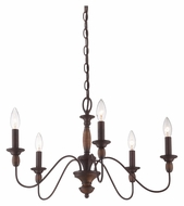 Quoizel HK5005TC Holbrook 24 Inch Diameter 5 Candle Tuscan Brown Chandelier Light - Small
