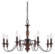 Quoizel HK5008TC Holbrook Tuscan Brown 29 Inch Diameter Candle Chandelier - Large