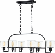 Quoizel HOL641EK Holden Contemporary Earth Black Kitchen Island Light Fixture