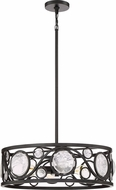 Quoizel JBE2822K Jubilee Modern Mystic Black Drum Drop Ceiling Light Fixture
