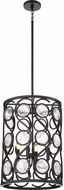 Quoizel JBE5204K Jubilee Contemporary Mystic Black 16  Drum Drop Lighting Fixture